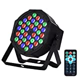 Eyourlife Par Light 36W LED RGB DMX512 Stage Lighting DJ Lights Party Light Sound Activated Stage Lights with Remote Control for Club Bar Events Home Wedding Party Lighting