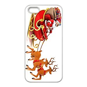 Santa and Elk Hight Quality Plastic Case for Iphone 5s