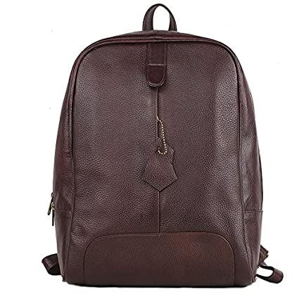 b3ebe7f0c9 Lewis BROWN COLOUR GENUINE LEATHER MEN   WOMEN UNISEX BACK STRAP OFFICE  LAPTOP MACBOOK BACKPACK BAG . ( BKPK-130 )  Amazon.in  Bags