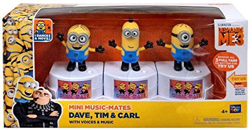 Despicable Me 3 Mini Music-Mates Dave, Tim & Carl Exclusive 3-Inch Figure 3-Pack [with Voices & Music] from Despicable