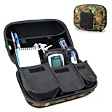 USA Gear Diabetic Supplies Travel Case Organizer for Blood Glucose Monitoring Systems, Syringes, Pens, Insulin Vials & Lancets - ACCU-CHEK Nano, Bayer Contour, TRUEtest & More Kits - Camo Woods
