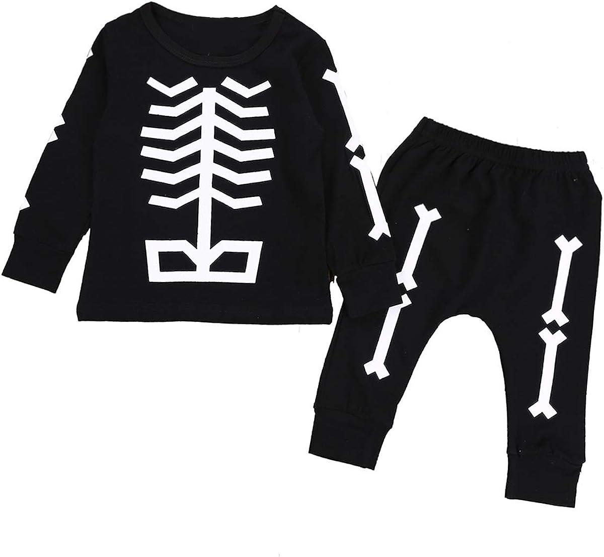 Bebé otoño chándal de Manga Larga Esqueleto Pantalones de polea establecidos para 1-5Y Toddler (Color : Black, Size : 6-12M): Amazon.es: Ropa y accesorios