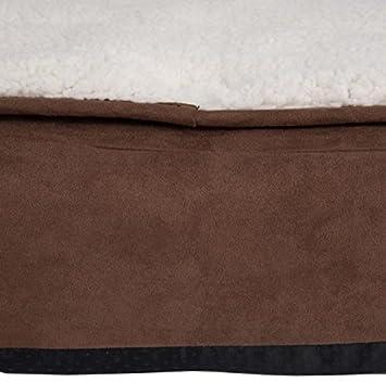 Dog Beds Marrón Acogedor - Cama Ovalada para con un Revestimiento de colchón de Espuma con Efecto Memoria Transpirable y Suave, Ideal para Perros o Perros ...
