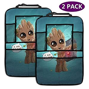 Light Rain Baby Groot Car Seat Organizer Covers Interior Mat Cushion Pad Accessories Super Soft Vehicle Seats Decoration…