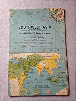National Geographic Map - Southwest Asia: National Geographic ...