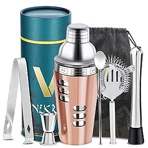 Vinekraft Set per la preparazione di cocktail Accessori per cocktail Set di shaker per cocktail professionale con filtro… 12 spesavip