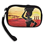 100% Polyester Retro Money Bag, Africa Culture