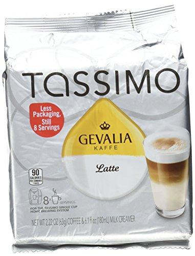 Tassimo Gevalia Kaffe Latte T-Discs, Pack of 4 (32 Servings)
