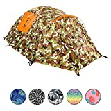 Chillbo Cabbins 2 Person Tent with Cool Patterns Ultimate Camping Gear for Backpacking Car Camping Music Festivals Family Camping Tents for Camping Sleeps 2-3
