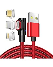 Right Angled Charging Cable, LAMA [3A 3.3ft] Fast Charge Magnetic USB Cable