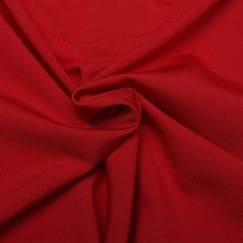 Blooming Jelly Damen Long Sleeve Lace Up tiefem V-Ausschnitt Bodysuit Playsuit One Piece Anzug