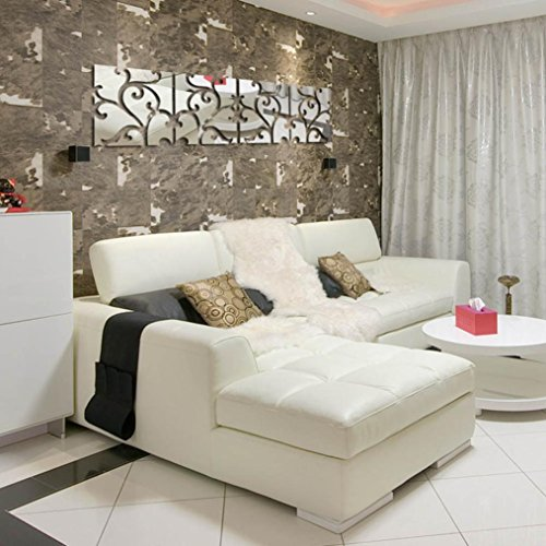 Wall Stickers,GOODCULLER New 32pcs DIY 3D Acrylic Mirror Decal Mural Removable Home Wall Decal Sticker Room Decor Mural Wallpaper Home Decor