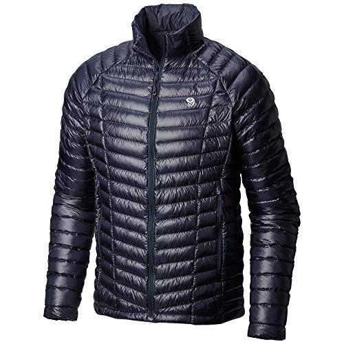 Mountain Hardwear Mens Ghost Whisperer Insulated Down Water Repellent Jacket, Non-Hooded - Dark Zinc - XL
