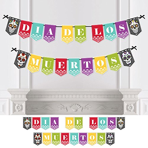 - Day of The Dead - Dia de Los Muertos Party Bunting Banner - Sugar Skull Party Decorations - Dia de Los Muertos