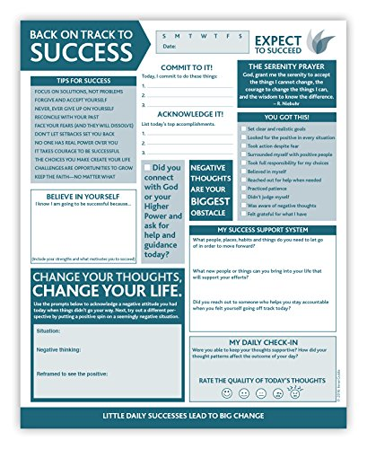 InnerGuide Planners, Back on Track to SUCCESS, 90-Page Daily Tear-Off Planning Note Pad (8 x 10) The 5-Minute Life Makeover!