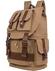 Leaper Large Canvas DSLR SLR Camera Backpack Rucksack Bag for Sony Canon Nikon Olympus