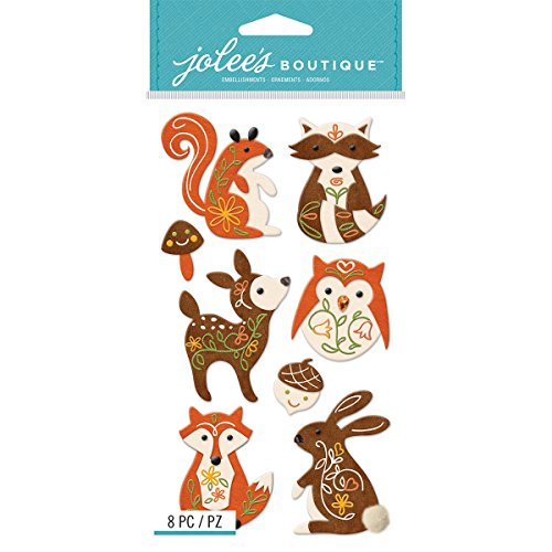 Ek Jolees Boutique Felt - EK Success EK Jolee's Boutique Large Woodland Felt Animals Jolee'sBoutiqLgWodlndFltAnimls