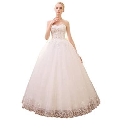 Bmwife Plus Size Vintage Lace Wedding Dresses Princess Vestido de Noiva Ball Wedding Gown (2