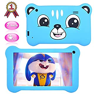 Kids Tablet 7 inch Android 9.0 Kids Edition Tablet with WiFi,GMS Certified,Dual Camera Children Tablet 2GB+16GB, Parental Control, 40+APP Pre-Installed with Kids-Proof Case