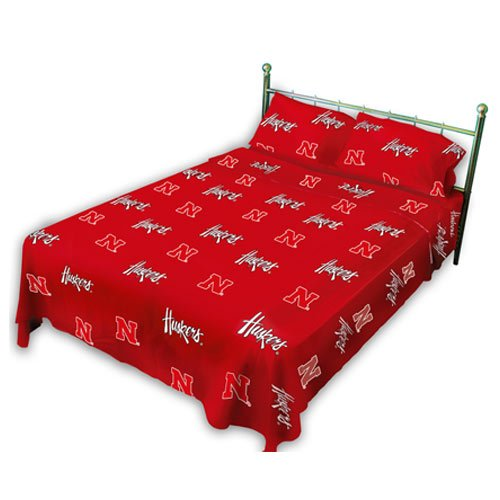 College Covers Nebraska Cornhuskers Printed Sheet Set - Twin - Solid by College Covers