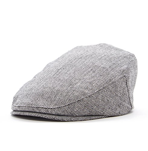 Born to Love - Boy's Tweed Page Boy Newsboy Baby Kids Driver Cap Hat (XXS 46CM), Grey Black by Born to Love