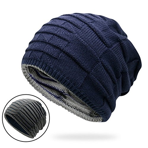 Zegoo Double-Sided Trendy Warm Chunky Soft Cable Knit Slouchy Beanie ()