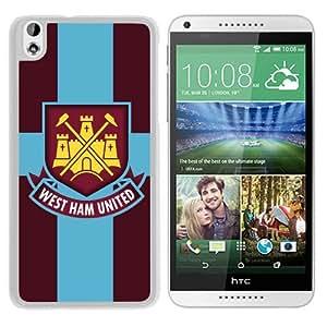 Unique Custom Designed Cover Case For HTC Desire 816 With Western Ham United White Phone Case 1