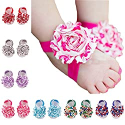 ZHW Baby Girl's Barefoot Sandals Flower  ( Set of 10 )