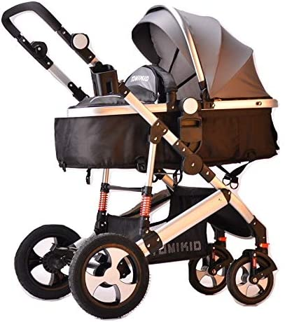 Grey Single Pram TomiKid 2 in 1 Combi Travel System Pram Stroller from New Born Kids Stroller Buggy Baby Child Pushchair
