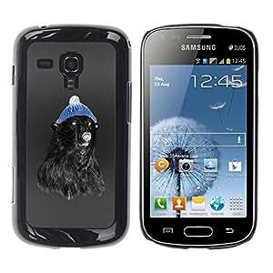 TopCaseStore / la caja del caucho duro de la cubierta de protección de la piel - Hipster Bear - Samsung Galaxy S Duos S7562