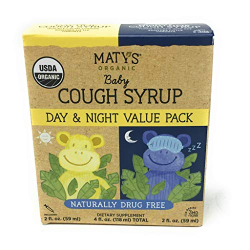 Matys, Syrup Cough Baby Day  Night Value Pack Organic, 4 Fl Oz
