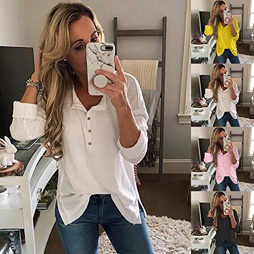 Sweatshirts T Haut Blouse Chic Blanc Top Dcontracte t Longue Vetements Sexy Automne Femmes 1 OVERMAL et en Shirt Vrac Chemise Manches Mode vSHaUF