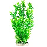CNZ Aquarium Decor Fish Tank Decoration Ornament Artificial Plastic Plant Green, 13-inch