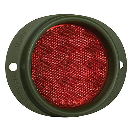 Grote 40162 Red//Military Green Steel Two-Hole Mounting Reflector with Gasket