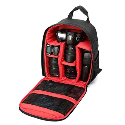 DZT1968® DSLR SLR Camera Waterproof Backpack Bag Case For Canon Nikon Sony
