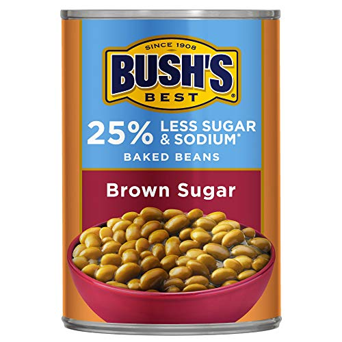 Bush Brothers & Company Best Baked Beans 25% Less Sodium & Sugar, Brown Sugar, 12 - Baked Best Beans Bushs