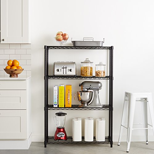 AmazonBasics 4-Shelf Shelving Unit - Black by AmazonBasics (Image #2)
