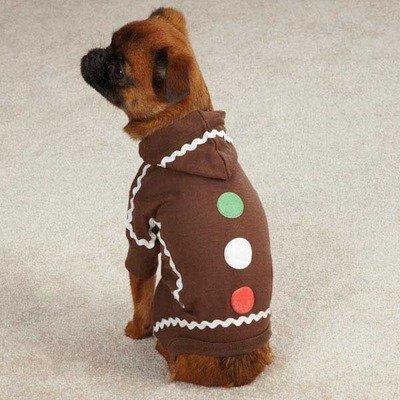 Casual Canine Gingerbread Pajama, Small/Medium, (Gingerbread Pup Dog Costumes)