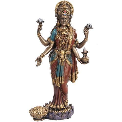 PTC 10 Inch Lakshmi Mythological Indian Hindu Goddess Statue Figurine