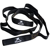 Muvin Stretch Strap - Yoga Strap - 8 Loops Non-Elastic Band - for Home Workout and Stretching, Pilates, Sports, Phisycal…
