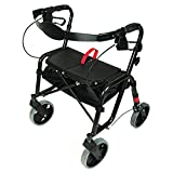 PCP Mobility & Homecare Black Folding Lightweight Rollator Walker