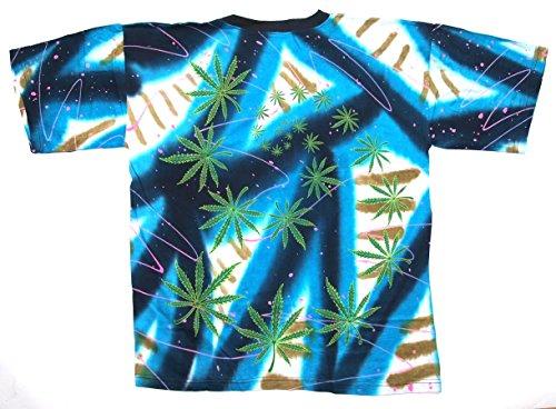 T-Shirt Pro Cannabis Nr. 1 Batik Baumwolle Größe XL beidseitig Siebdruck Original 1990er Jahre