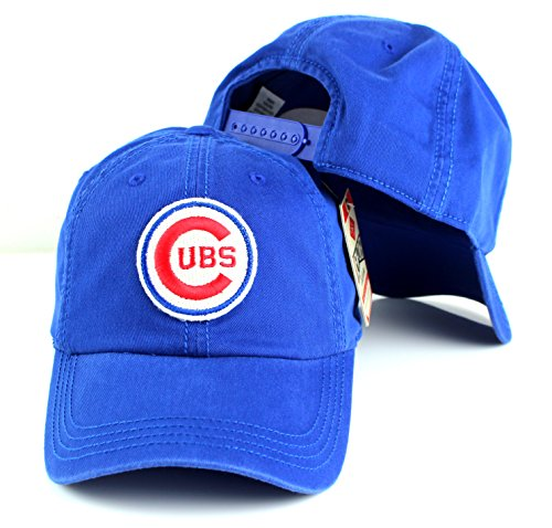 American Needle MLB New Timer Slouch Baseball Adjustable Snapback Hat (Chicago Cubs - Blue) - American Series Ball Glove
