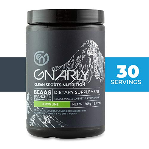 Gnarly Nutrition, BCAA Pre and Post Workout Supplement to Reduce Muscle Soreness, Naturally Caffeinated Lemon Lime (30 Servings) (Best Supplement To Take During Workout)