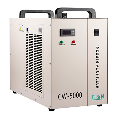 Happybuy Water Chiller CW-5000DG 6L Capacity Thermolysis Industrial Water Chiller 800W Cooling Industrial Chiller for 80/100W CO2 Glass Tube Energy Saving (6L CW-5000DG) by Happybuy
