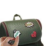LeSac Ergonomic School Backpack Fashion Rucksack Travel Knapsack With Add On Emojis