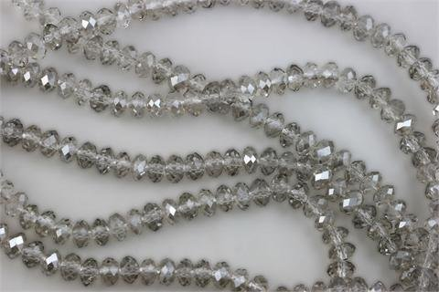 Smoky Quartz Faceted Rondelle Beads - 5