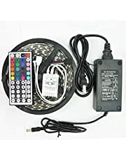 شريط LED متعدد الالوان ريموت كنترول محول من نوع 5050 خمس متر بشريط لاصق