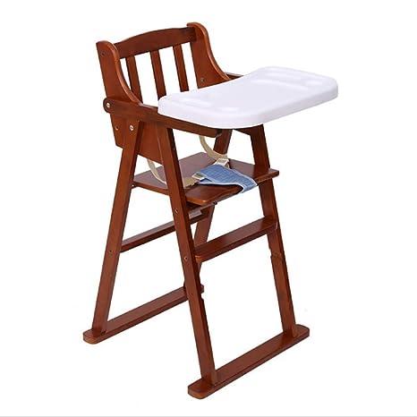 Silla de comedor para niños de madera maciza portátil ...