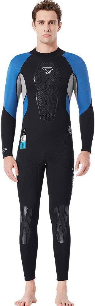 Blau XL DIPOLA Herren Neoprenanzug Active Full Long Sleeve Wetsuit 3MM Ganzkörperanzug Stretchanzug Schwimmen Schnorcheln Schwarz Blau Rot S-2XL